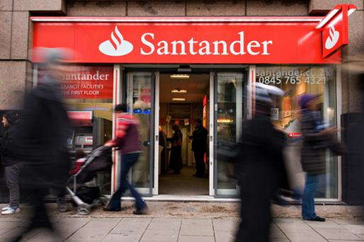 Banco Santander is thought to be in pole position to buy cash-strapped AIB's stake in the US bank M&T. Photo: Getty Images