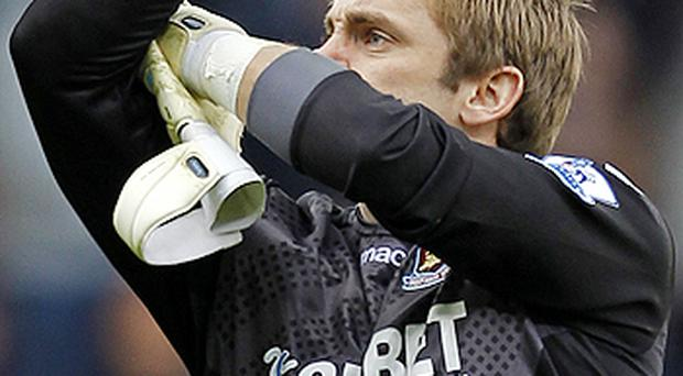 Robert Green gestures after the English Premier League football match between West Ham United and Tottenham Hotspur. Photo: Getty Images