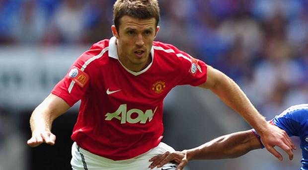 Carrick has not started a game for United since the Community Shield. Photo: Getty Images
