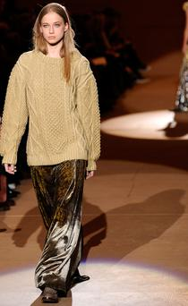 Marc Jacobs featured cableknits during his AW10 show. Photo: Getty Images