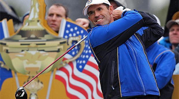 Padraig Harrington struggled in practice today. Photo: PA