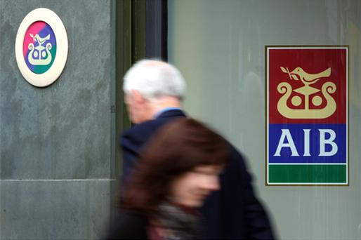 AIB was the most volatile of the banking stocks as the Government acknowledged it will become a majority shareholder in the institution. Photo: Bloomberg News