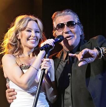 Kylie Minogue celebrated the career of Italian fashion designer Roberto Cavalli in Paris