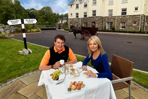 TEA FOR TWO: Bill Cullen and his partner Jackie Lavin at The Reserve apartment complex at the five-star Muckross Park Hotel in Killarney, Co Kerry