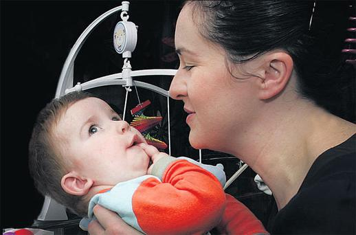 Brigid Flanagan with her 15-month-old son Richard, who is cared for at home with the help of the Jack & Jill Foundation