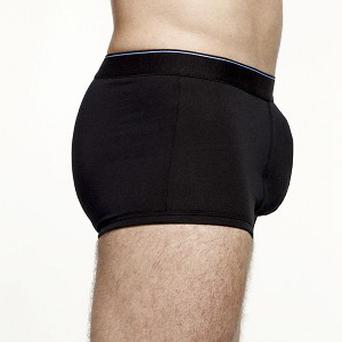 Marks and Spencer's new 'front enhancement' boxers, part of their new body-enhancing underwear range for men