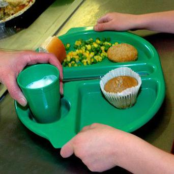 Pupils staged a protest over school lunch changes