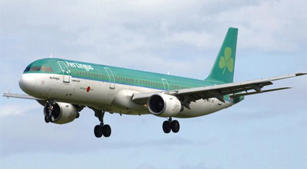 Aer Lingus moved well beyond the €1 level, up 0.5pc to €1.05 after the airline made acting chief financial officer Andrew Macfarlane permanent. Photo: Bloomberg News