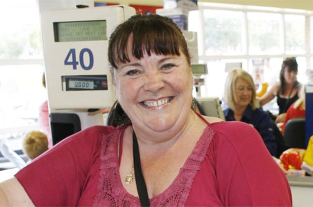 Mary Byrne pictured in TESCO
