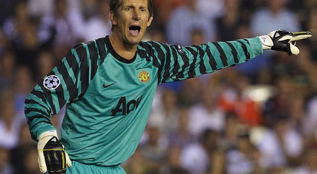 Manchester United goalkeeper Edwin van der Sar remains No 1 at the club despite being close to his 40th birthday. Photo: Getty Images