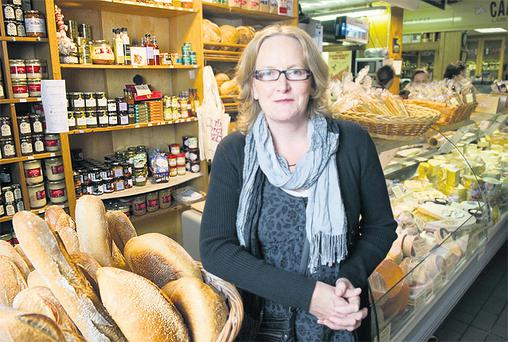 Dr Angela Sheehan of UCC's Food Industry Training Unit, at the English Market, Cork