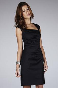 Structured dresses like this side pleated one from Warehouse €78 offer support to the mid section .