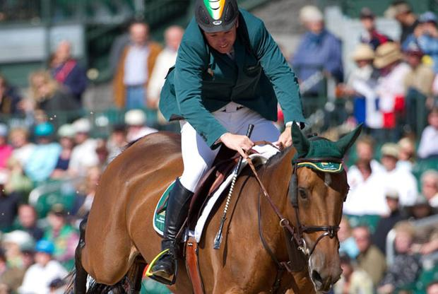 Cian O'Connor, on K Club Lady, in action during the 2010 World Equestrian Games at the Kentucky Horse Park in Lexington Kentucky yesterday. Photo: Ray McManus / Sportsfile