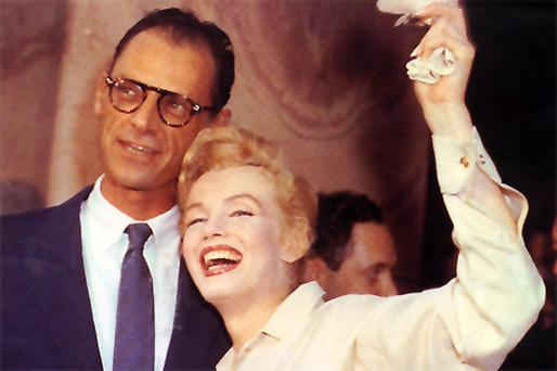 Arthur Miller and Marilyn Monroe pictured after their civil wedding ceremony in White Plains, N.Y., on June 29, 1956 Photo: AP