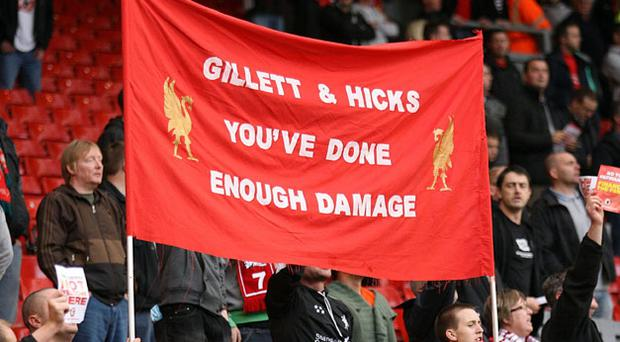 Liverpool fans are keen to see a change of ownership. Photo: PA