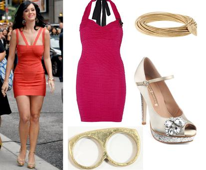 Dress River Island €45; Bracelet Lipsy €13.5; Shoes Buffalo €129; Ring urban outfitters €14
