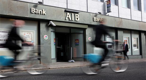 AIB tumbled 8.5pc to 41c. Photo: Bloomberg News