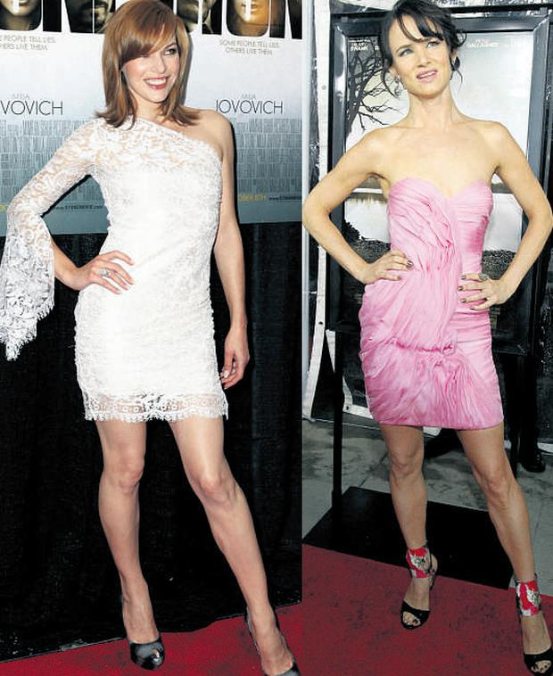 From left: Milla Jovovich and Juliette Lewis