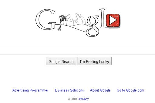 John Lennon 70th birthday anniversary Google Doodle. Photo: Google