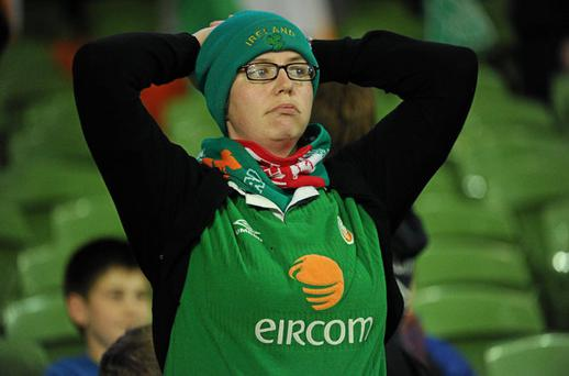 A dejected Annie Leddy, from Ballyfermot, Dublin, after the disappointing defeat. Photo: Sportsfile