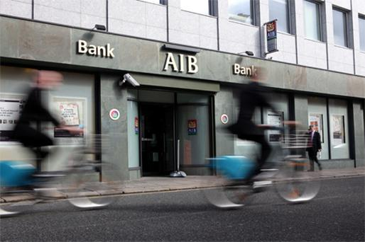 AIB shares closed down 1.2c each at 39.50c after the announcement. Photo: Bloomberg News