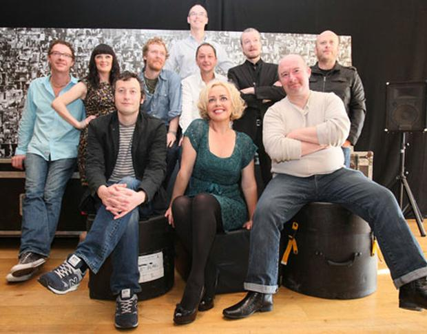 The Commitments together again. Photo Collins