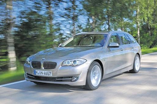 AN ESTATE TO SETTLE INTO: The BMW 5 Series 520d Tourer is fast, desirable and clean.