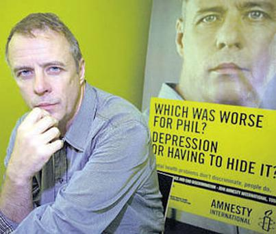 Phil Mac Giolla Bhain features in Amnesty International's campaign against mental-health discrimination
