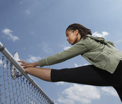 Make the most of weekends and lunch times to exercise during the winter. Picture posed - Getty Images