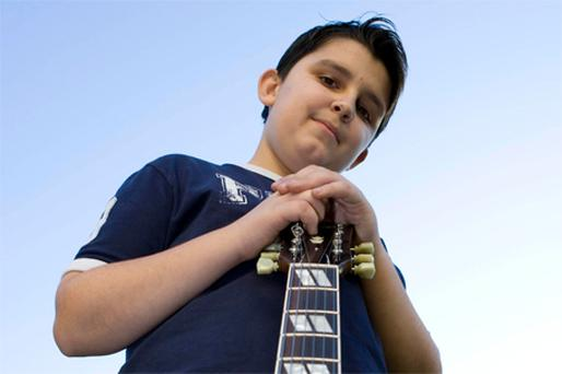 Andreas Varady, the 13-year-old jazz guitar prodigy, pictured at his home in Stenson Park, Limerick