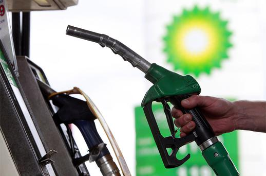 There was an overall fall of 0.8pc in UK petrol prices, compared with a 2.3pc hike a year ago. Photo: Bloomberg News