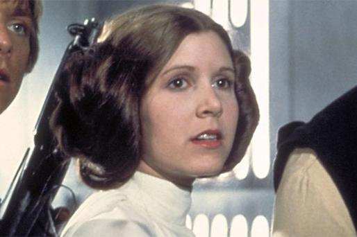 Carrie Fisher has confessed to taking cocaine while on the set of The Empire Strikes Back. Photo AP