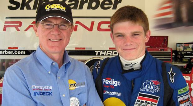 Family affair: Former Grand Prix driver Derek Daly and his son, Conor, who is hoping to follow in his father's footsteps.