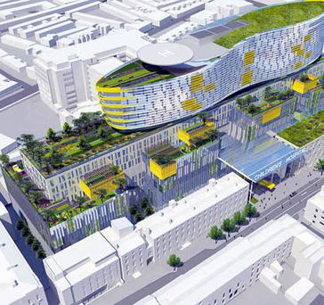 An artist's impression of the planned National Children's Hospital, which is to be based on the Mater Hospital campus in Dublin.
