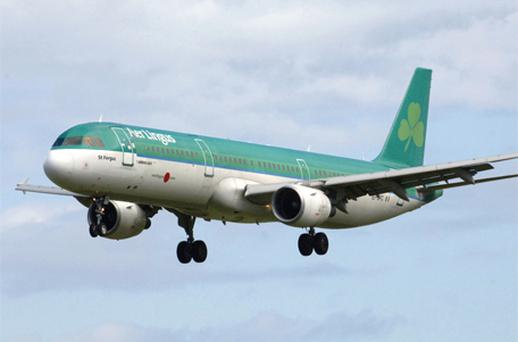 Aer Lingus saw shares fall 2.2pc to €1.12 despite informing the market that trading had been stronger than expected in the third quarter, especially in September. Photo: Bloomberg News