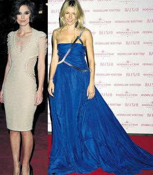 From left: Keira Knightly and Sienna Miller