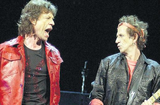 Keith Richards with Mick Jagger during the Rolling Stones' Licks world tour in Madison Square Gardens, New York, in 2002.