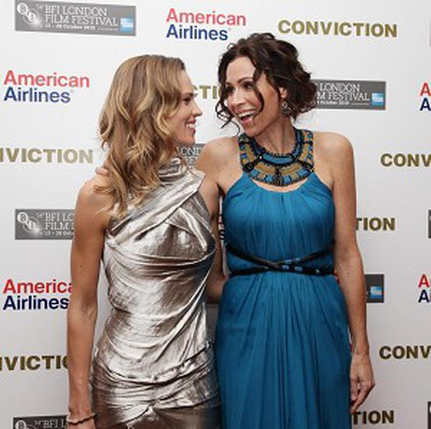 Hilary Swank and Minnie Driver at the premiere of Conviction in central London