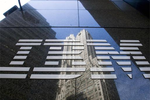 IBM: third straight quarterly drop in new contracts. Photo: Bloomberg News