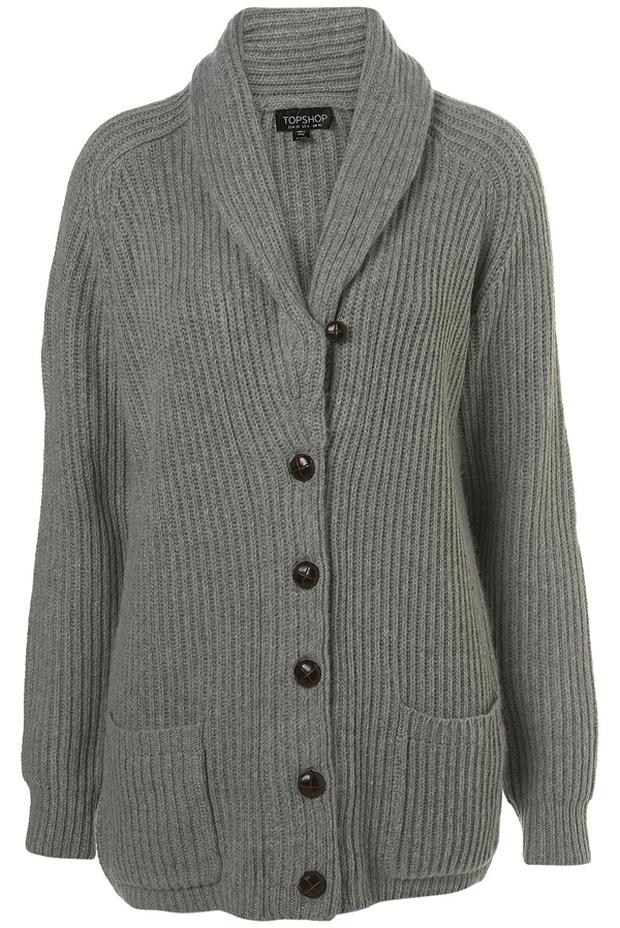 Cable knit cardigan from Topshop €61