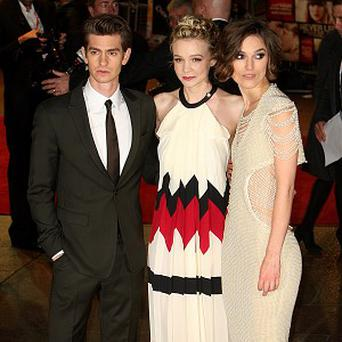 Andrew Garfield, Carey Mulligan and Keira Knightley arrive for the premiere of Never Let Me Go