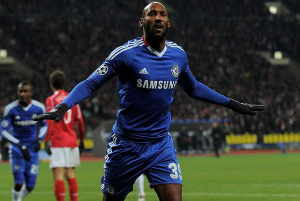 Nicolas Anelka celebrates scoring Chelsea's second goal in their win over Spartak Moscow. Photo: Getty Images