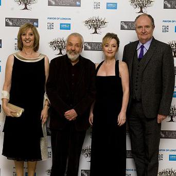 (Left - right) Ruth Sheen, Mike Leigh, Lesley Manville and Jim Broadbent at the gala screening of Another Year