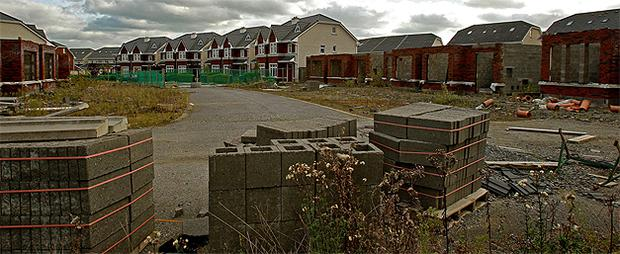 A general view of a so-called 'ghost estate' in north Co Dublin. Photo: PA