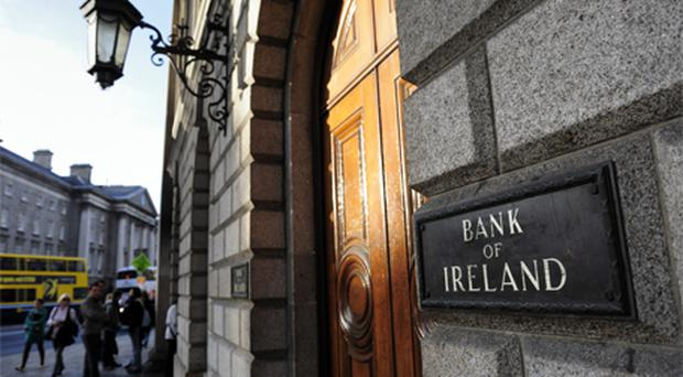 Bank of Ireland: up 5.5pc to 62c. Photo: Bloomberg News