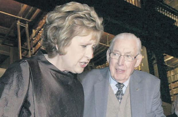 Pictured at the opening of 'Ireland in Turmoil: the 1641 Depositions' at Trinity College, Dublin, yesterday were President Mary McAleese and Dr Ian Paisley.