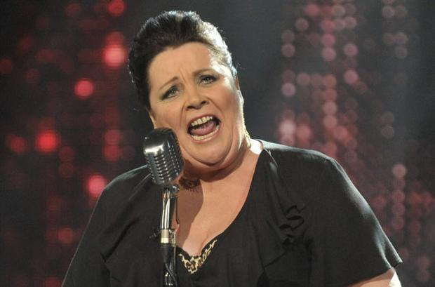 Mary Byrne as she is now known to millions — a supermarket worker singing her way to stardom on ITV's 'The X Factor' last night.