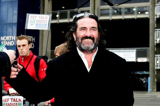 RUGBY FAN: Johnny Ronan at the Heineken Cup final in Murrayfield last year. Photo: David Conachy