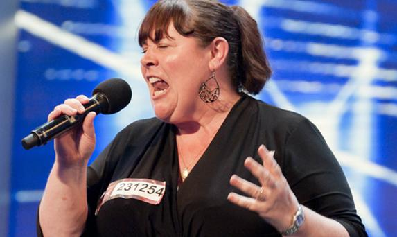 Mary Byrne performs on the X Factor. Photo courtesy of ITV