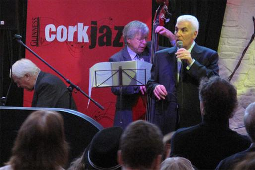 Mitch Winehouse performing in the Bodega Bar as part of the Cork Jazz Festival yesterday
